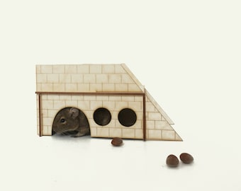 pet furniture / wooden castle / large house / small house / playhouse for chinchillas / house for chinchillas / tunnel