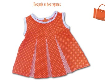 Little girl dress / dress birthday gift / Givenchy 50s style / 6/9 months birthday gift