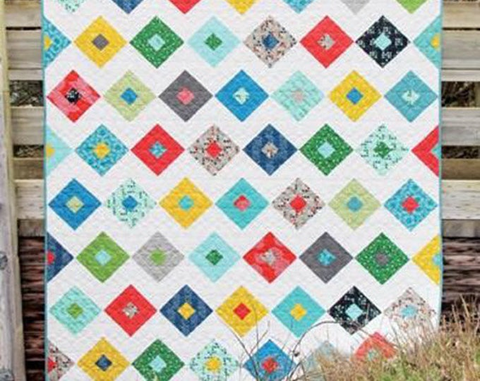 LUCKY Quilt Pattern #153 by Cluck Cluck Sew - Jelly Roll Friendly in 4 Sizes - For Advanced Beginners to Intermediate Quilters (W4353)