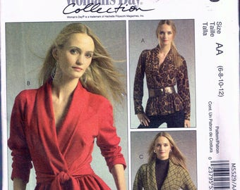Size 6-12 Misses Jacket Sewing Pattern - Wrap Jacket Pattern - Jacket With Peplum - Cardigan Sewing Pattern - McCalls M5529