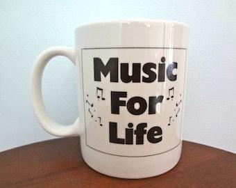 Music For Life Vintage Advertising Coffee/Tea Mug