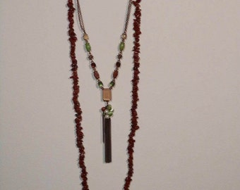 Beaded & Tassle Necklace Set