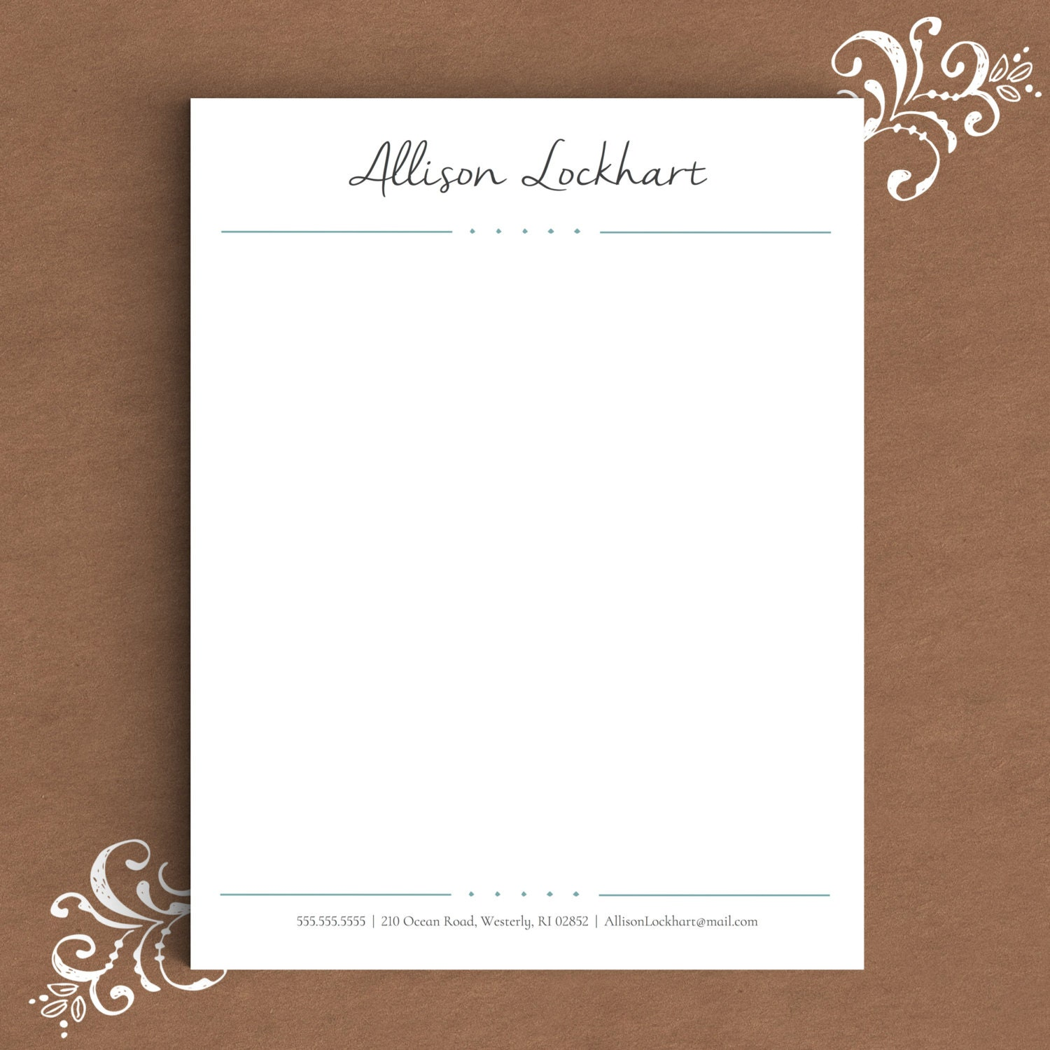 Free Custom Letterhead: Letterhead Template For Word DIY Custom Letterhead