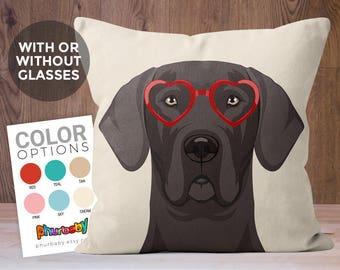 Great Dane Pillow   Fiance Gift   Dog Pillow   Boyfriend Gift   Dog Accent Pillow   Birthday Gift   Gifts Under 25   Dog Gift   Wedding Gift
