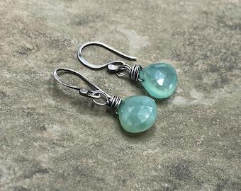 Seaspray - Chalcedony and Sterling Silver Earrings