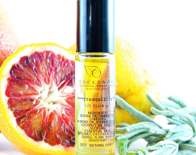 Featured listing image: Tranquility Roll-On Aromatherapy Oil // Stress, Tension
