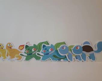 Pokémon starters gen 1-2 stickers