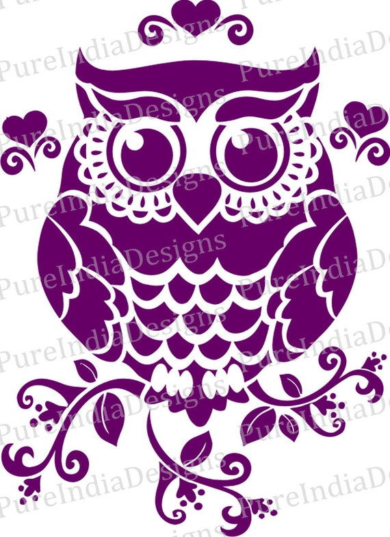 Owl Svg Owl Design Cutout Vector Art Cricut Silhouette