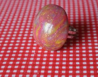 ring rose gold foil