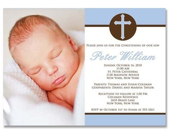 Baptism or Christening Announcement (Peter Blue) - Photographer Photoshop Templates