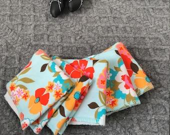 Littleberry cloth wipes Flower Power