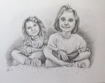 Custom Pencil Sketch Custom Drawing Pencil Portrait