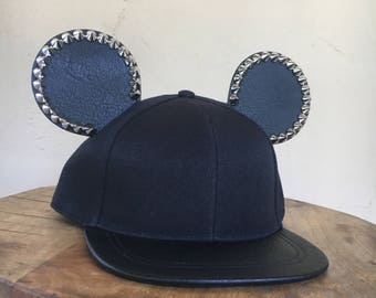 Adult Faux Leather | Mickey Mouse Ear Hat