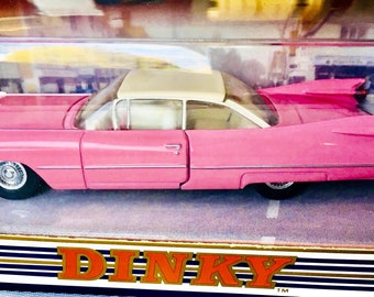 DINKY Vintage 1959 Pink Cadillac Coupe De Ville Matchbox Die-cast car New in Box ©1994 DY-7C