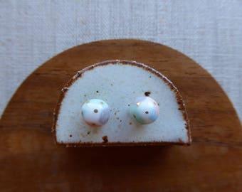 Small Gold Dot Temari Ball Stud Earrings
