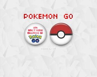 Pokemon GO & Pokeball (Pin-Back Buttons)