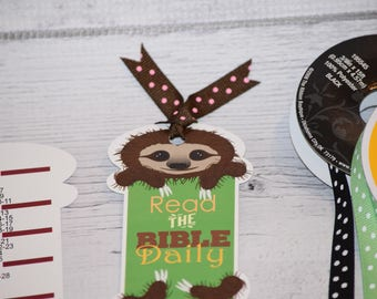 1 Sloth Bookmark - Bookmarks for books - Accessory for Books - Jw baptism gift - Jw gifts for kids - Jw gift ideas