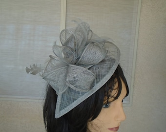 Gray Kentucky derby hat church hat