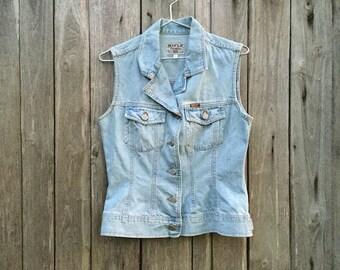 Vest Jeans/ Vintage/ 90s/ Rifle/ size S/ denim 100% cotton/ two pockets