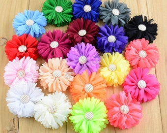 Wholesale Folded Flower, Fabric Flower, DIY Headband Accessory Supplies H10037