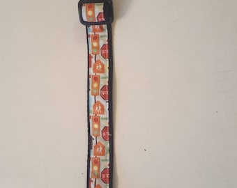 Dog collar traffic lights and road signs
