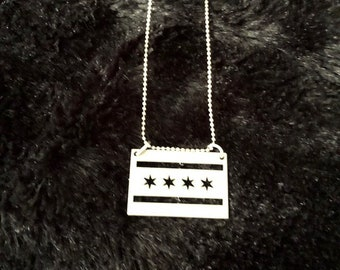 Stainless Steel Chicago Flag