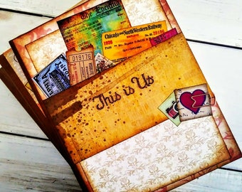 This is Us Journal Notebook Smashbook Art Journal Unlined Pages Anniversary Travel Vacation Road Trip Honeymoon