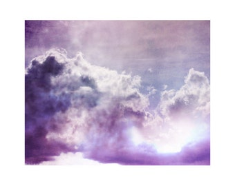 Large Wall Art, Purple Art, Cloud Photography, Sky Photography, Surreal Photography, Purple Wall Art Large Art Ethereal Art Purple Art Print