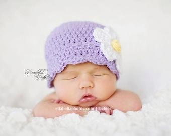 Crochet Hat Pattern Baby Crochet Hat Daisy Flapper Beanie Crochet Hat Pattern Newborn to Adult Photo Prop Instant Download