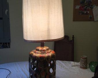 1970's Drip Glaze Lamp