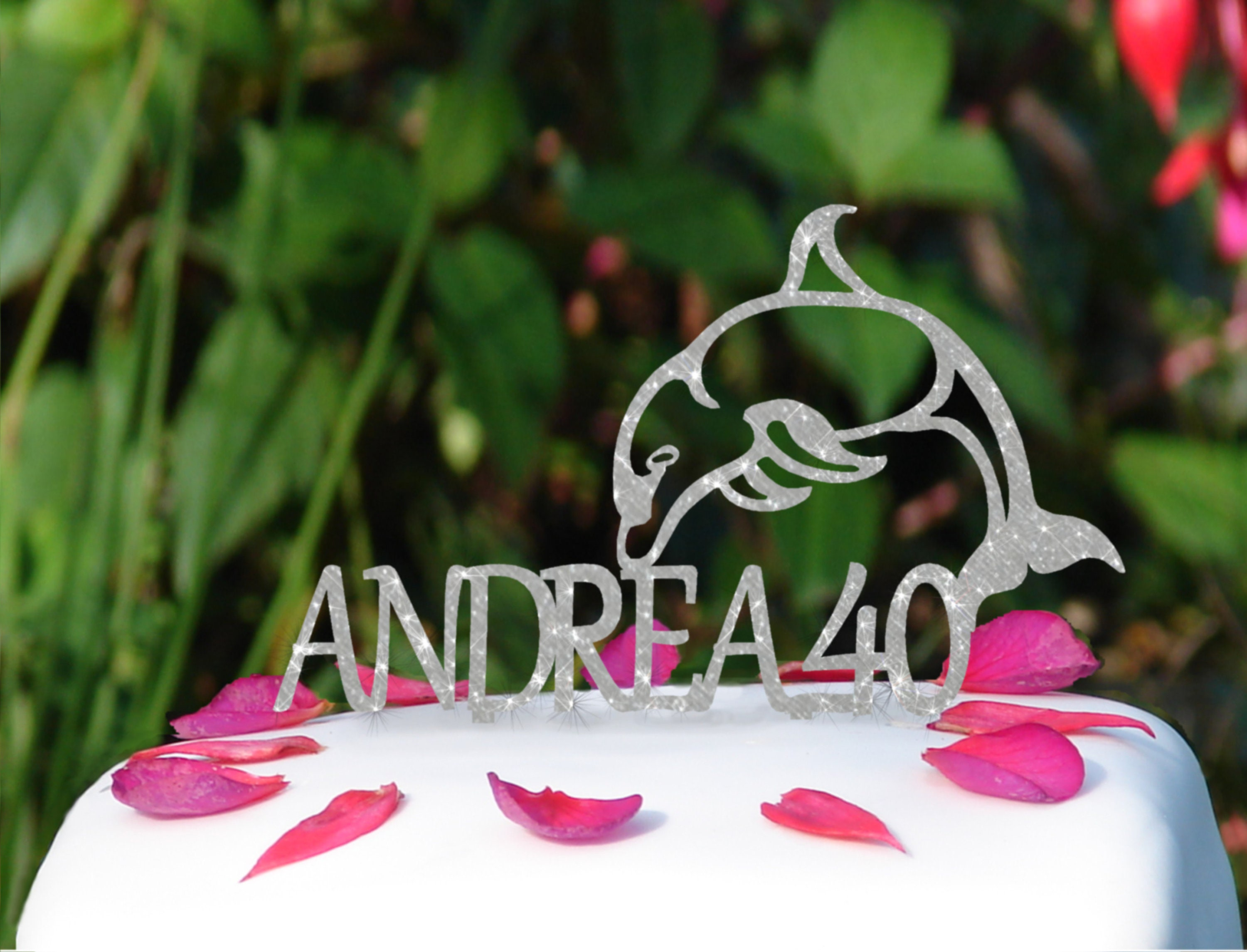Dolphin Birthday Cake Topper Dolphin Cake Topper Personalised
