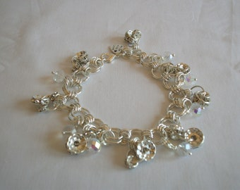 Crystal chain maille bracelet