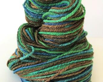 """Handspun Yarn -- """"Pan"""" -- 85 / 15 Polwarth wool / silk -- 176 yards worsted weight"""