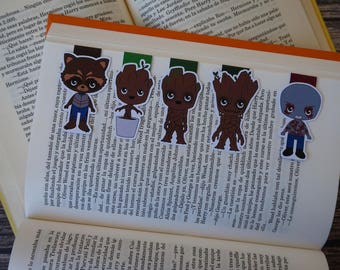 Magnetic Bookmarks - Guardians of the Galaxy II, Groot, Rocket, Drax, Marvel