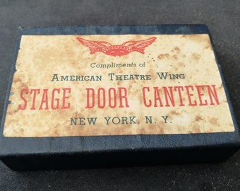 Rare Vintage Playing Cards. American Theatre Wing War Service-Stage Door Canteen Playing Cards. Stage Door Canteen Playing Cards By ARRCO