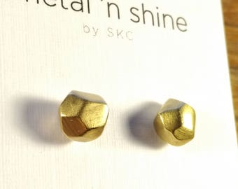 Handmade Brass GEOmetric Stud Earrings