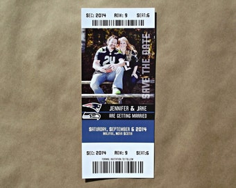 Sports Event Ticket Wedding Save The Date