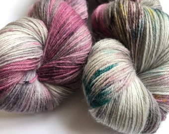 Hand dyed yarn Tough sock -'Friends at festivals'