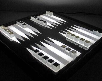 3DCUBEGAMES Bright BG-3, backgammon lit, lightbox, game board illuminated, backgammon game, game lit