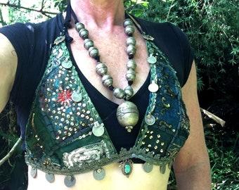 Green Goddess Large Tribal Bra