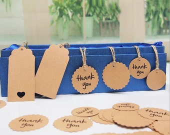 Custom Personalized  Kraft Tags Hang Tags Gift Tags  High-quality