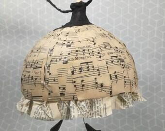 Papier-mâché/paper art dancer to hang