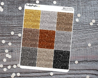 Glitter Headers NEUTRAL // Planner Stickers, Faux Glitter