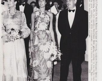 Vintage Original Photograph Princes Grace (Grace Kelly) - Monaco - 25th Anniversary Monaco Red Cross