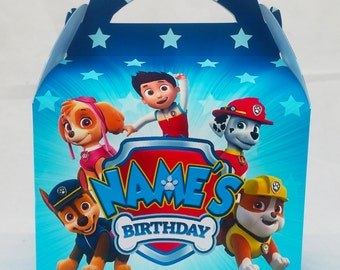Paw Patrol Childrens Party Box Gift Bag Favour