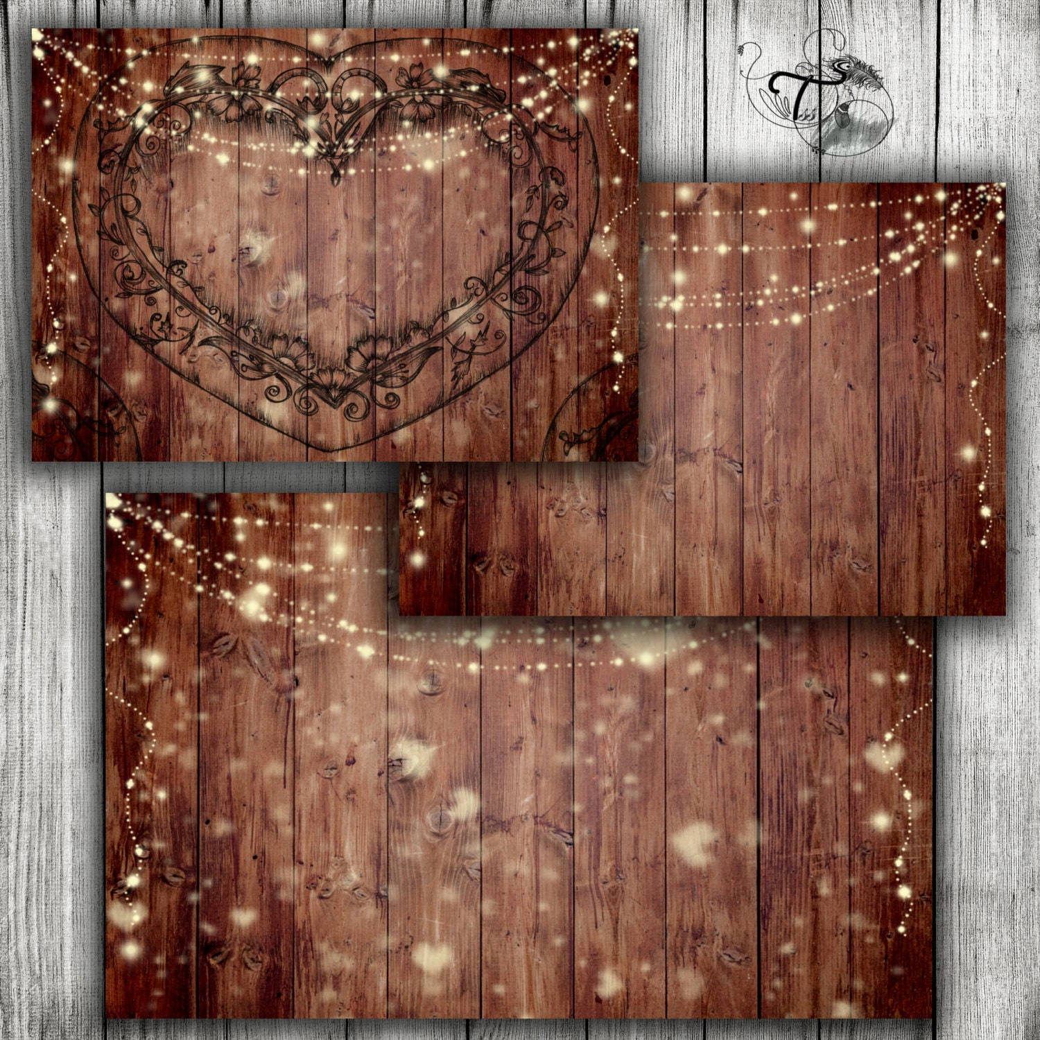 Rustic Wedding Printable Background Wood Wedding Invite