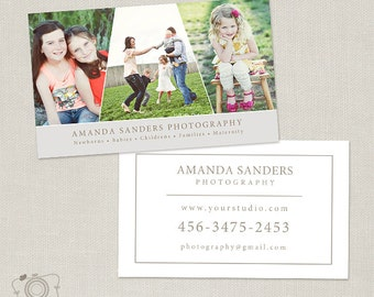 Photography Business Card Template for Photographers -006 - C269, INSTANT DOWNLOAD
