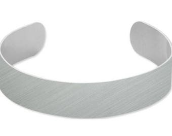 "Silver Plain Bracelets for Sublimation .55""x6.5"""