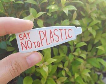 saynotoplastic brooch #2 - toothpaste