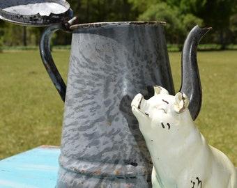 Gooseneck Enamelware Teapot